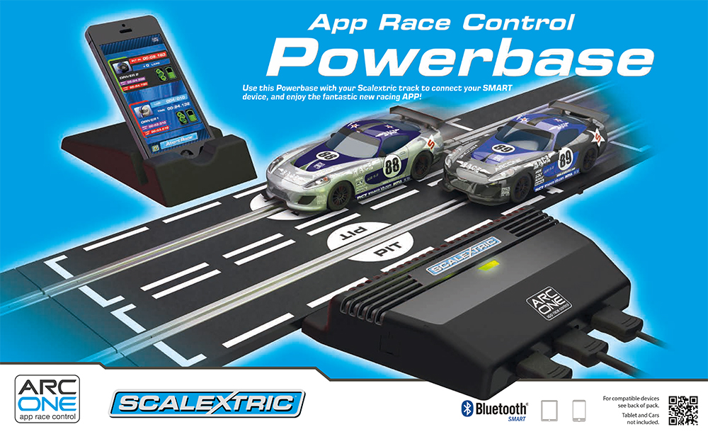 Scalextric Power /& Control Base Plus Two Hand Controllers C8530
